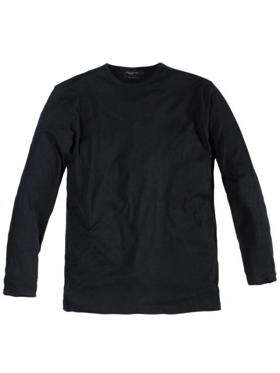 Klassisk Replika t-shirt langtærme (Sort)