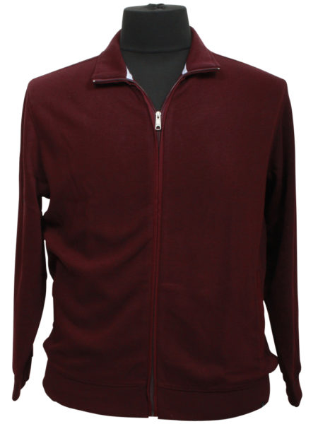 Klassisk Stonehill Sweat Cardigan (Bordaux)