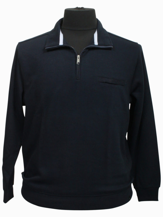 Klassisk Stonehill Sweat m. zip. (Navy)