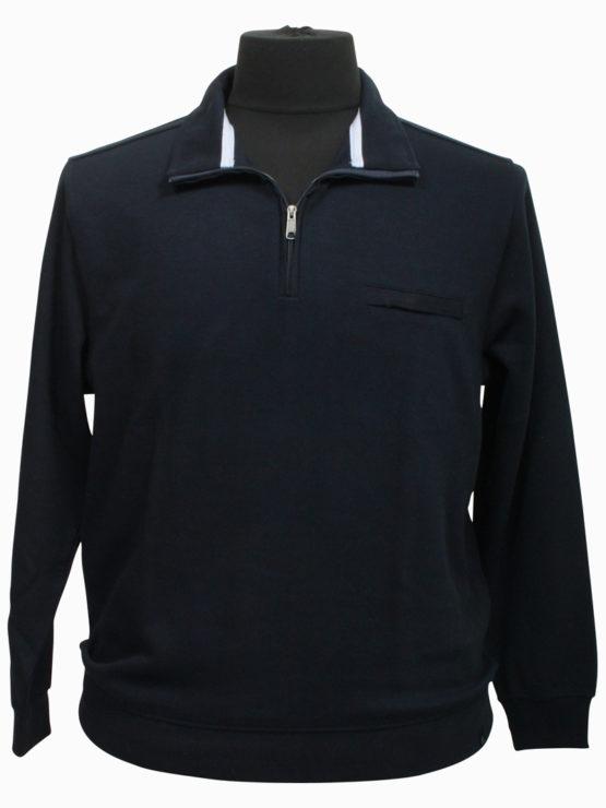 Klassisk Stonehill Sweat m. zip. (Navy)