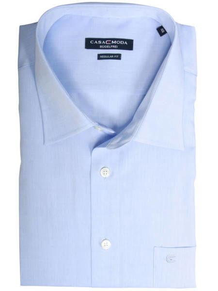 Eksklusiv kortærmet Casa Moda Skjorte (Lyseblå)