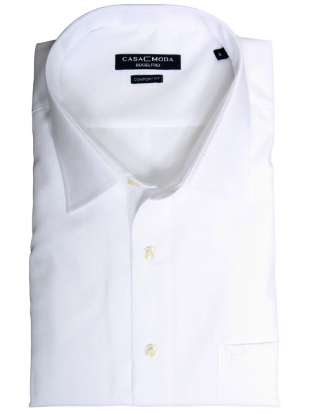 Eksklusiv kortærmet Casa Moda Skjorte (Hvid)