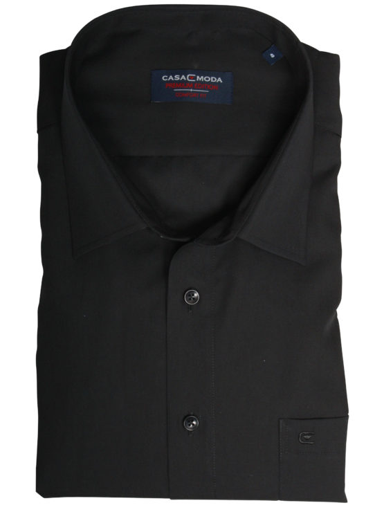 Eksklusiv kortærmet Casa Moda Skjorte (Sort)