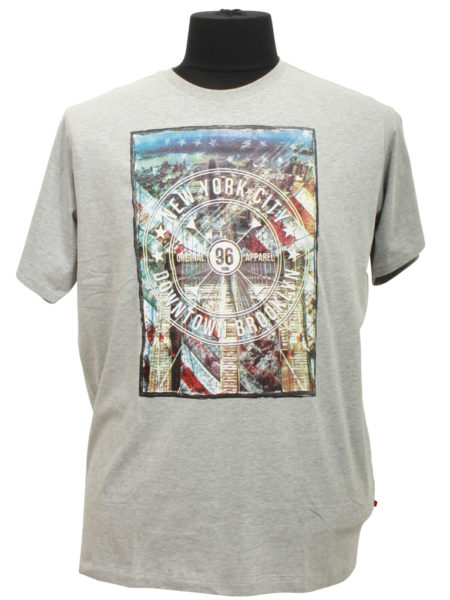 New York City Print T-Shirt (Grå)