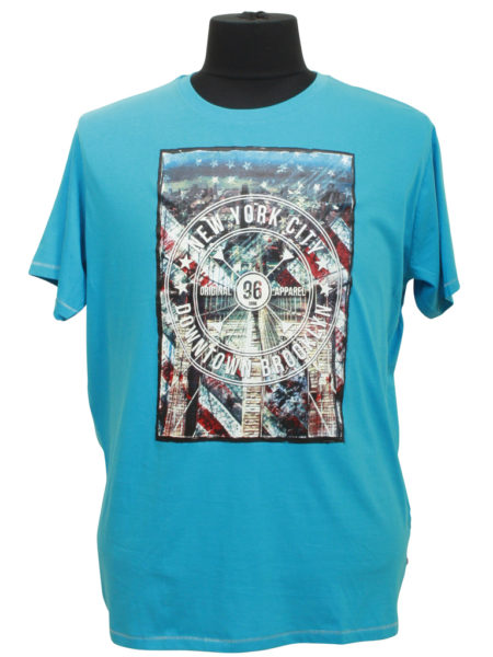 New York City Print T-Shirt (Turkis)