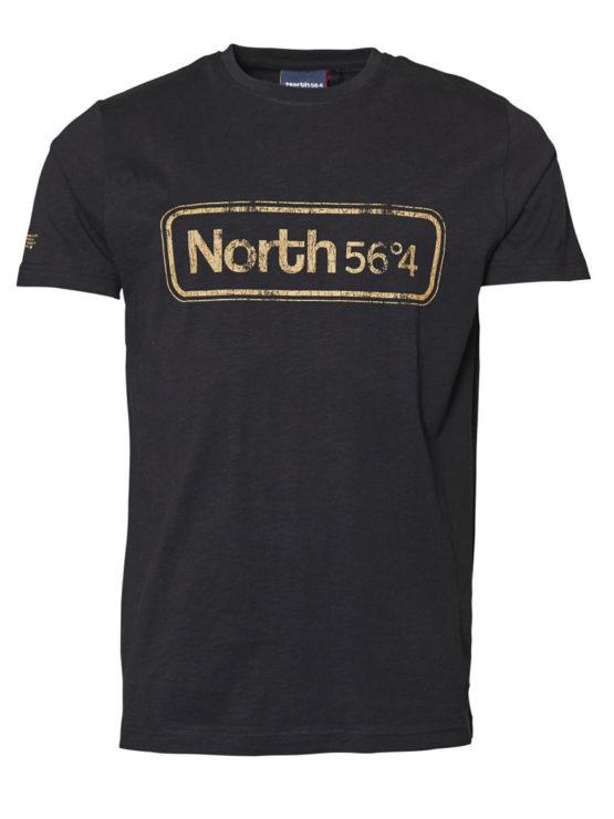 North 56 Print T-Shirt (Sort)