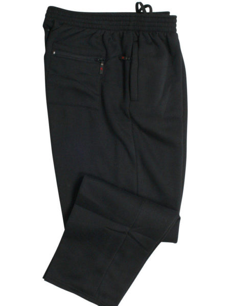 Rockford jogging bukser uden rib (Sort)