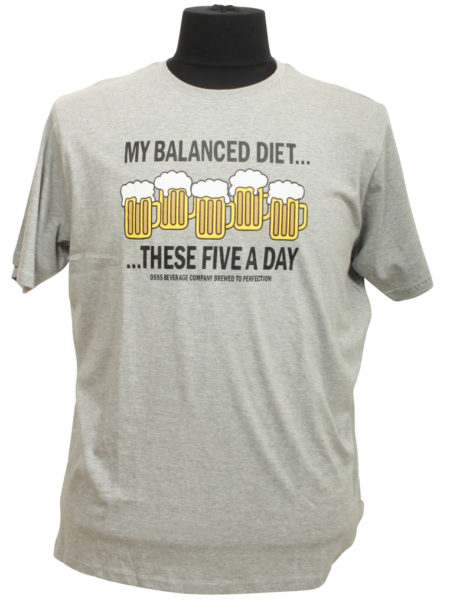These Five a day Print T-Shirt (Grå)