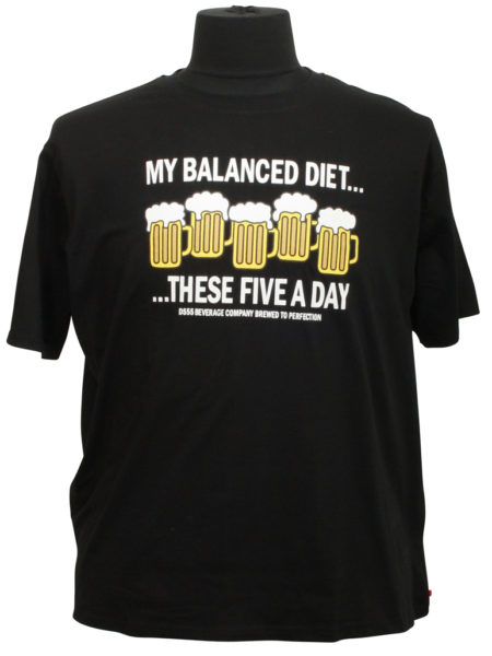 These Five a day Print T-Shirt (Sort)